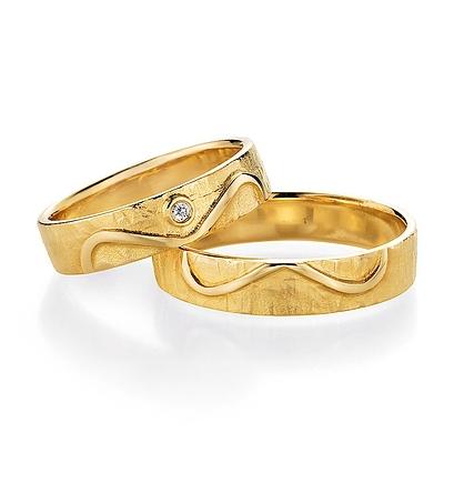 Ehering Gelbgold mit oder ohne Brillant