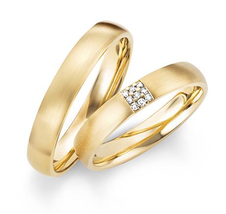 Ehering Gelbgold mit oder ohne Brillanten